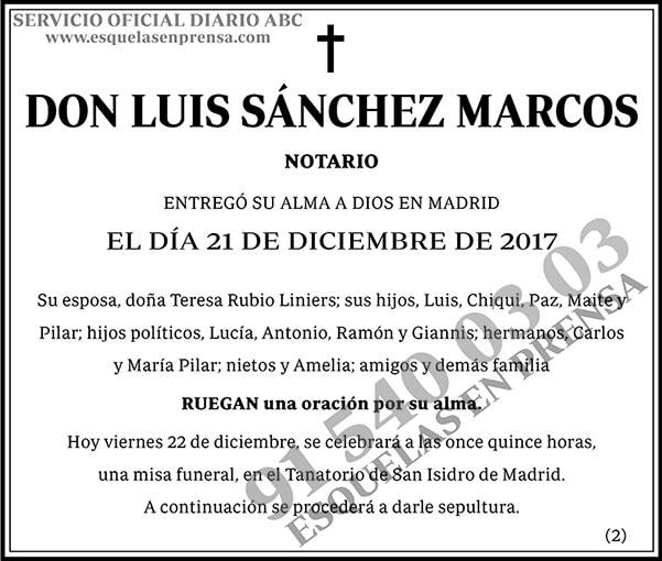 Luis Sánchez Marcos